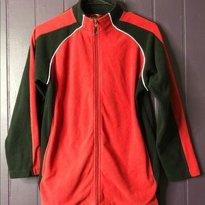 Red and black jacket w/white stripe large